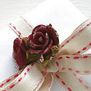 Duo Stitched Linen Ribbon 10M roll - Pink