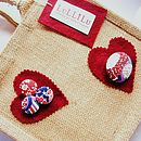 HEARTS AND BUTTONS BAG