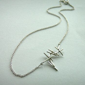 Silver Twig Necklace