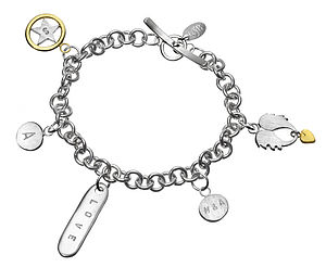 Love Me Do Personalised Charm Bracelet