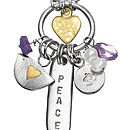 Peace Mini Personalised Necklace