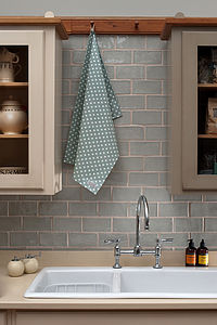 Madelaine Sage Tea Towel - kitchen linen