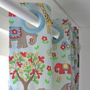Handsewn blackout lined eyelet curtains in Cath Kidstons cotton duck fabric