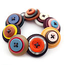 Retro Button Stack Bracelet
