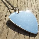 Sterling Silver Plectrum Necklace
