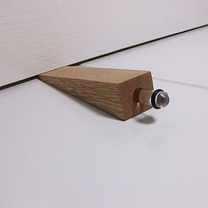 Oak Wedge Door Stop - living room