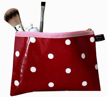 Make-up Bag Oilcloth Issy Red Spot