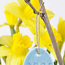 Blue Personalised Egg Decoration