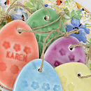Personalised Porcelain Easter Egg Decorations