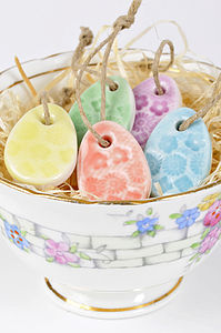 Five Mini Egg Decorations - easter decorations