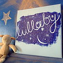 Lullaby canvas in blue