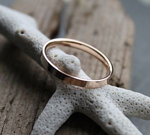 Gold Wedding Ring Band - personalised