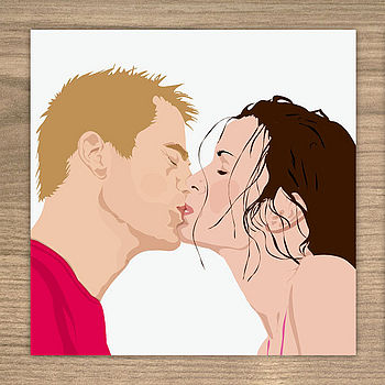 The Kiss Card (also available as a pack of 6 cards)