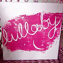 Lullaby canvas in pink