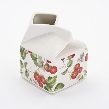 strawberry small milk jug