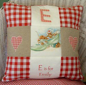 Beatrix Potter© Red Alphabet Cushion - cushions