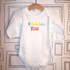 It Started With A Kiss Babygrow - babygrows