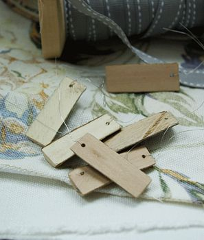Mini wooden tags
