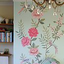 luxe chinoiserie wallpaper panel