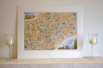 The Hand-Drawn Map Of London