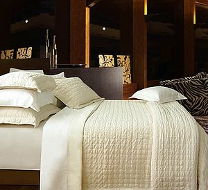 Luxurious Pure Cotton Textured Bedspread - bedroom