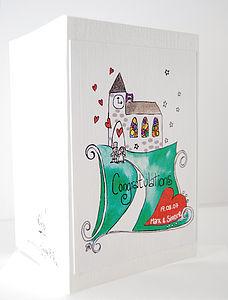 Personalised 'Happy Couple' Wedding Card - wedding cards