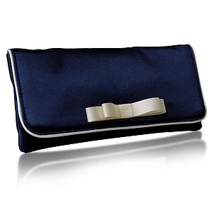 Darcy Satin Bow Clutch - bags