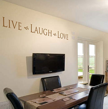 'Live Laugh Love' Wall Sticker
