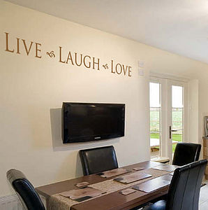 Live Laugh Love Wall Art Sticker / Decal - pictures, prints & paintings