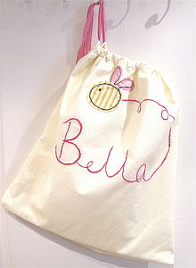Personalised Embroidered Laundry Storage Bag
