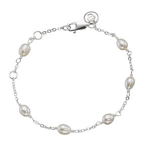Child's Pearl Station Bracelet - wedding jewellery