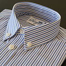 Boy's Navy Blue Stripe Shirt