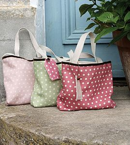 The Personalised Polka Dot Linen Bag - women's accessories