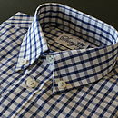 Boy's Navy Blue Check Shirt