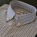 Boy's Blue and Navy Check Shirt