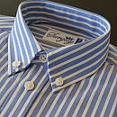 Boy's Blue and Chalk Stripe Shirt