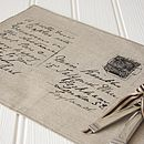 Set Of Two Linen Postcard Placemats