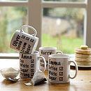 Personalised Milk And Two Sugars Mug