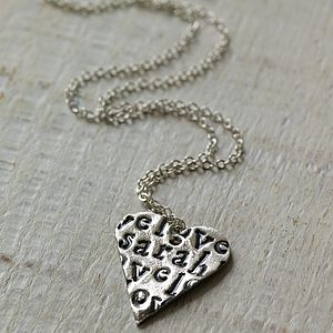 Personalised Love Heart Necklace - shop by category