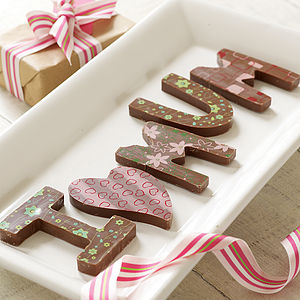 Personalised Chocolate Names/Messages - wedding favours