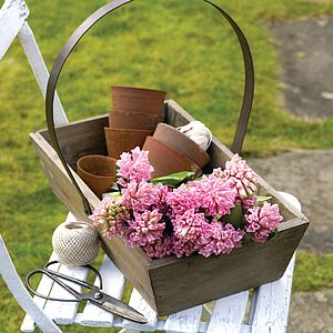 Reclaimed Wood Garden Trug - storage
