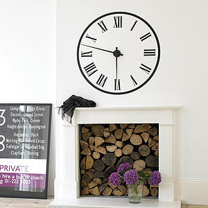 Working Station Clock Wall Sticker - children's room accessories