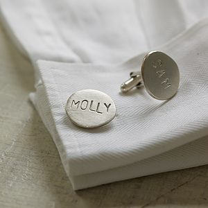 Personalised Name Cufflinks - jewellery for men