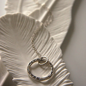 Personalised Circle Necklace - wedding jewellery
