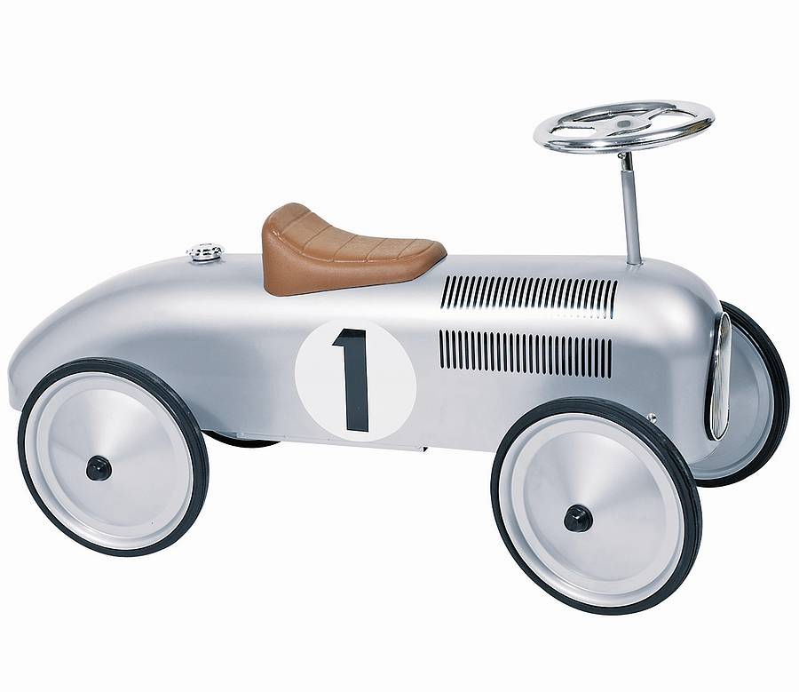 retro style ride on racing car by oskar catie. Black Bedroom Furniture Sets. Home Design Ideas