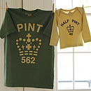 'Pint' And 'Half Pint' Set - army / toffee