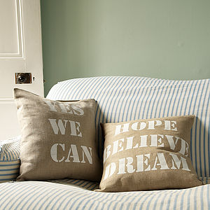Inspirational Cushion - new home gifts