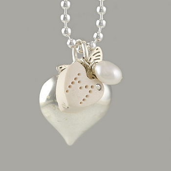 Butterfly Heart Necklace For Children