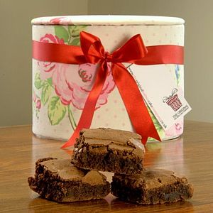 Vintage Rose Hat Box Brownies - cakes & treats