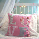 SPECIAL OFFER: Country Floras Pink Love Cushion